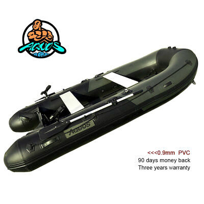 AQUOS 0.9mm PVC 430 Inflatable Boat Fishing Boat Tender Dinghy Kayak GB