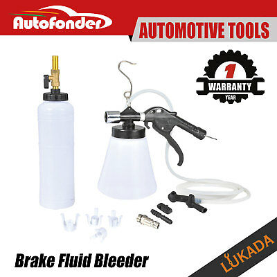 Air Brake Bleeder Kit Clutch Vacuum Bleeding Extractor Fluid Fill Adapters Set