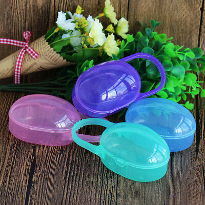 Baby Kids Soother Pacifier Dummy Storage Case Box Travel Hard Cover Holder Multi