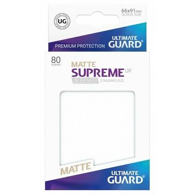 ULTIMATE GUARD UX SUPREME 80ct Matte Frosted Card Protectors Standard 66 x 91mm