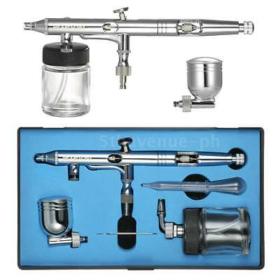KKmoon Mehrzweck-Side-Feed Dual-Action Airbrush Kit Set Einstellbare 0.25mm L3J8