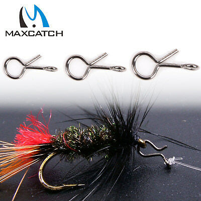 Fly Fishing Snap Hook for Flies Lures Quick Change Small/Medium/Large 50Pcs/lot