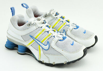 ac3bc7f9caa Womens Nike Shox Nz 2006 Running Shoes Size 7 Us White Blue Yellow 316308  111