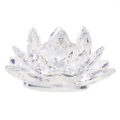 Large Crystal Lotus Flower with Gift Box 4 Inch Feng Shui Home Decor Clear
