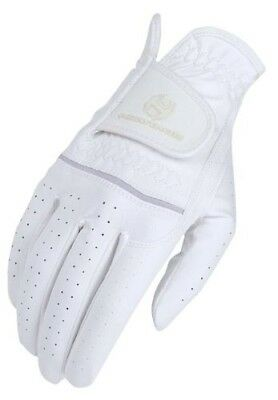 (6, White) - Heritage Premier Show Glove. Heritage Products. Delivery is Free