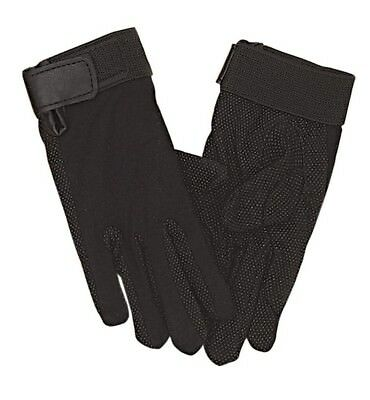 (Medium) - Perri's Adult Cotton Gloves, Black. Free Shipping
