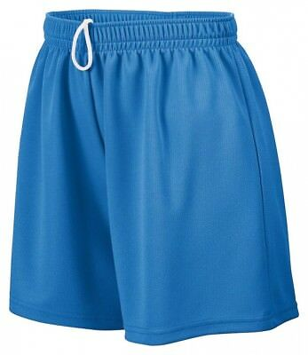 (Large, Royal) - Augusta Sportswear Girls' WICKING MESH SHORT. Shipping Included