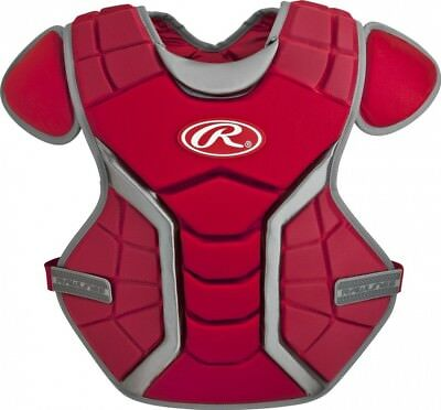 (33cm , Age-9 & Under, Scarlet) - Rawlings Renegade Chest Protector