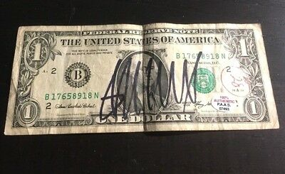 President Donald Trump - Hand Signed U.s. One Dollar Bill - With Coa And Holo