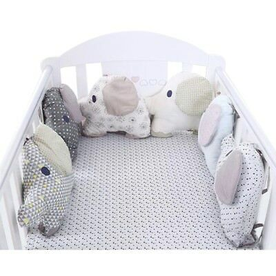 Baby Bed Bumper 6PCs Infants Cartoon Elepants Nursery Bedding Cradle Protection