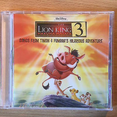 """""""the Lion King 3""""-Songs From Timon & Pumbaa's Movie-Walt Disney-Brand New Cd"""