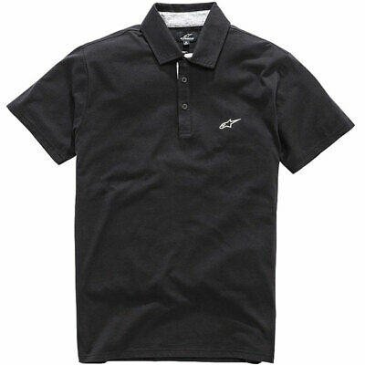 Alpinestars Motorbike Motorcycle Casaul Eternal Polo Shirt Black