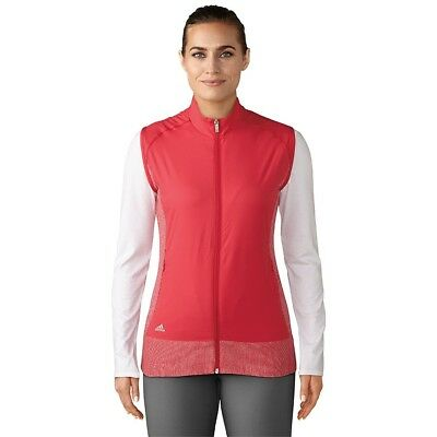 (Medium, Energy Pink HTR/Energy Pink) - adidas Golf Women's Rangewear Vest
