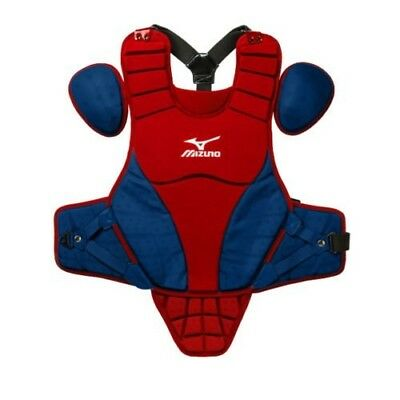 (36cm , Red/Navy) - Mizuno Samurai Youth Chest Protector. Unbranded