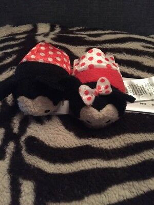 Disney Store Mickey And Minnie Spots Tsum Tsum Soft Toy  Valentines