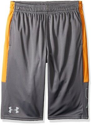 (Youth X-Small, Graphite/Radiate) - Under Armour Boys' Instinct Shorts