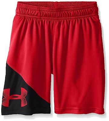 (Youth Small, Red/Black) - Under Armour Boys' Tech Shorts. Unbranded