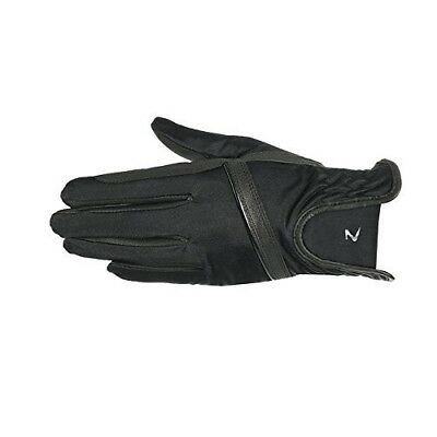 (8, Black) - Horze Evelyn Women's Breathable Summer Gloves. Free Delivery