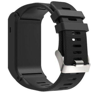 (Black) - Pumsun Sports Silicone Bracelet Strap Band For Garmin vivoactive HR,