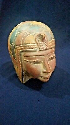 Ancient egypt huge bust of Goddess Isis Late Period