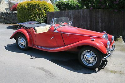 Fabulous MG TF 1500 1954 in Red Rebuilt by Naylor Bros