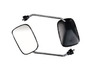 Chrome Black Mirrors Disability Mobility Scooters 8Mm Thread Handlebar Mount