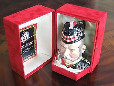 William Grant 25 Yr Old Scotch Whiskey Decanter Royal Doulton Toby Jug Unopened