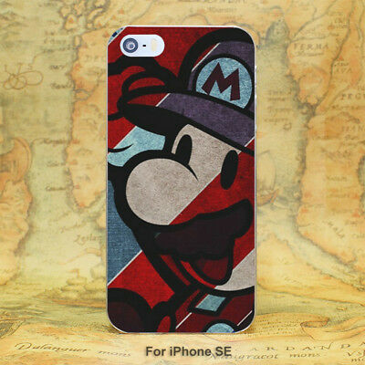 Super Mario Style Hard Case Cover For iPhone 6 7 8 Samsung S7 S8 Sony Huawei LG