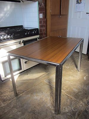 SALE >>>Mid century 1970s chrome and teak dining table kitchen table 70s retro