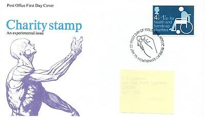 GB - FIRST DAY COVER - FDC - COMMEMS -1975- CHARITY STAMP - Pmk PB