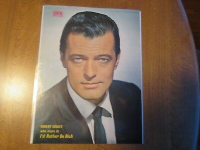 Vintage 1960s ROBERT GOULET Showtime Hollywood Magazine Pin Up Poster 8 1/2 x 11