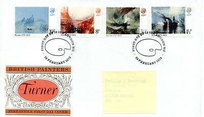 GB - FIRST DAY COVER - FDC - COMMEMS -1975- BRITISH PAINTERS - TURNER - Pmk L'dn