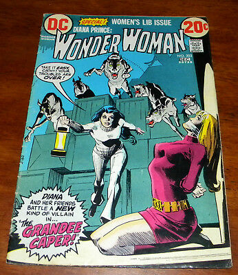 DC Comics Wonder Woman #203 Women's Lib Issue Bondage Cover Diana Prince