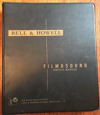 Rare Original Bell & Howell Filmosound 16mm Projector Service Manual Parts List