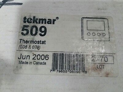 tekmar 509 Thermostat with 079 tekmar floor sensor old stock from GOB