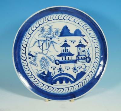 18th / 19th Century 'YU' Mark Chinese Porcelain Kangxi Blue & White Plate 20cm
