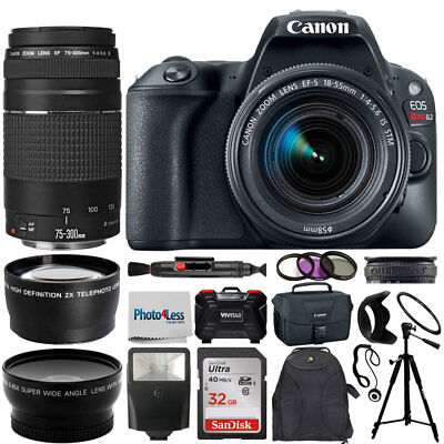 Canon EOS Rebel SL2 DSLR Camera + 4 Lens kit 18-55mm + 75-300mm Top Value Bundle