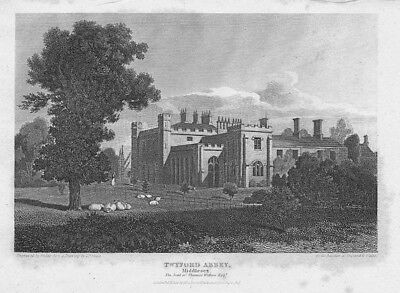 LONDON View of Twyford Abbey, Middlesex - Antique Print 1815