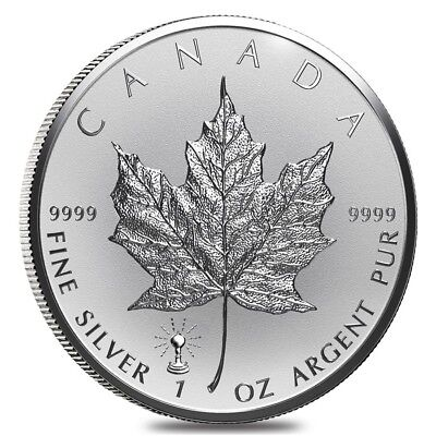 2018 1 oz Silver Canadian Maple Leaf Light Bulb Privy Reverse Proof Coin BU