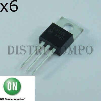 TIP122G Transistor NPN Darlington TO-220 100V 5A ONS RoHS (lot de 6)