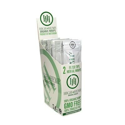 High Hemp Organic Wraps Full Box 25 (2 Wrap) Pouches 50 Wraps(a858)