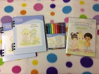 Precious Moments Lot Of New Vintage Items Markers Address Book & 2 Journals RARE