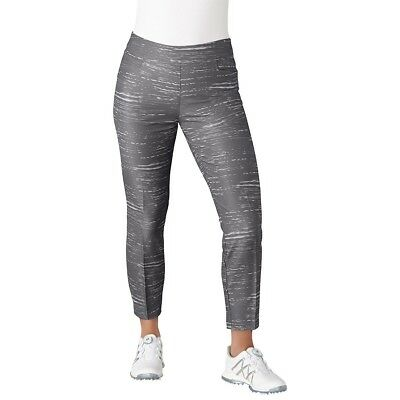 (Large, Trace Grey) - adidas Golf Women's Ultimate Adistar Printed Ankle Pants