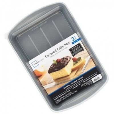 CAKE PAN 9X13 W/LID NON-STICK MAIN STAYS, Case Pack of 2. DollarItemDirect