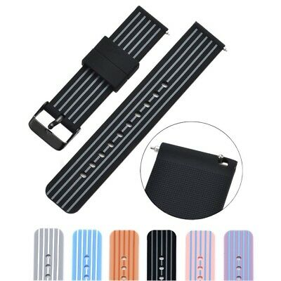 (18mm, black/grey) - Cumeou Silicone Replacement Quick Release Watch Band