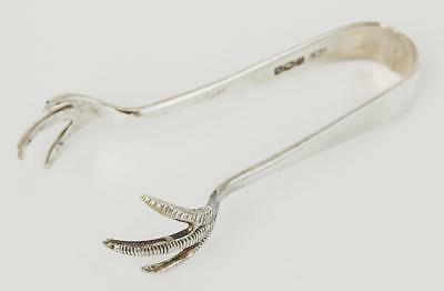 KING GEORGE V STERLING SILVER PAIR SUGAR TONGS 1931 SHEFFIELD Claw Feet