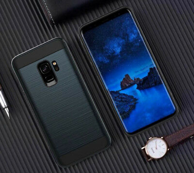 Hybrid Brushed+TPU Anti-shock Armor Case Cover For Samsung Galaxy S9 S8 S8Plus