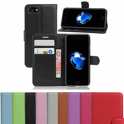 PU Leather Wallet Magnetic Flip Phone Case Cover For Apple iPhone 5 6 7 8 X ,10