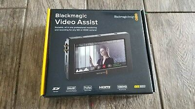 "BNIB Blackmagic Video Assist SDI HDMI 5"" Monitor and Recorder"
