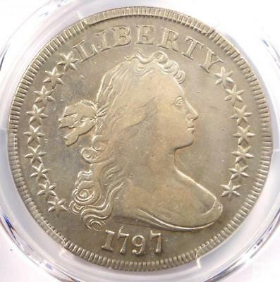 1797 Draped Bust Small Eagle Silver Dollar $1 - PCGS VF Details - Rare Coin!
